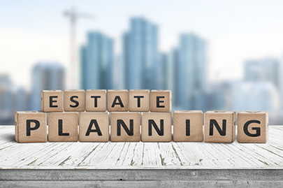 image of a sign says estate planning